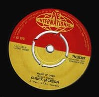 CHUCK JACKSON Since I Don't Have You Vinyl Record 7 Inch Pye 1964